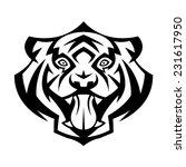 tiger head showing teeth vector ... | Shutterstock .eps vector #231617950