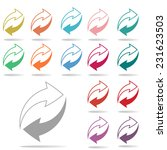 colorful arrow icon set on... | Shutterstock .eps vector #231623503
