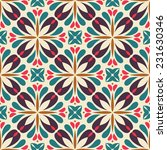 retro seamless pattern with... | Shutterstock .eps vector #231630346