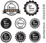 vector promo label of best... | Shutterstock .eps vector #231631528