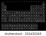 an illustration of the periodic ... | Shutterstock .eps vector #231632263