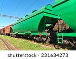 grain hoppers on the railway... | Shutterstock . vector #231634273