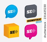 seo sign icon. search engine... | Shutterstock .eps vector #231635230