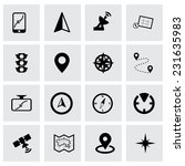 vector navigation icon set on... | Shutterstock .eps vector #231635983