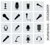 vector microphone icon set on... | Shutterstock .eps vector #231636049