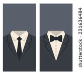 business card with suits and...