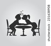 silhouette of couples in love   Shutterstock .eps vector #231638908