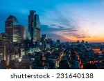 the sun sets over the gangnam... | Shutterstock . vector #231640138