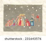 holy family and the three wise... | Shutterstock . vector #231643576