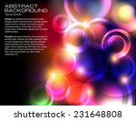 dark background with bright... | Shutterstock .eps vector #231648808