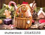 Basket Of Various Christmas...