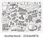 doodle coffee | Shutterstock .eps vector #231664876