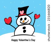 little snowman   valentine's | Shutterstock . vector #231666820