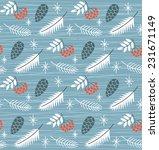 winter christmas seamless... | Shutterstock .eps vector #231671149