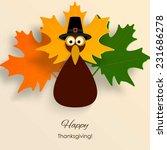 happy thanksgiving turkey  | Shutterstock .eps vector #231686278
