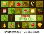 christmas design template card. ...   Shutterstock .eps vector #231686836