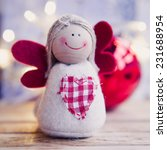 Small Christmas Angel With Red...