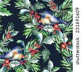 seamless pattern with bird   Shutterstock . vector #231691609