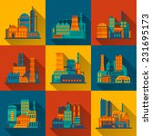 industrial city construction...   Shutterstock .eps vector #231695173