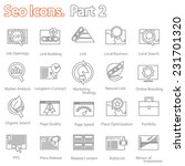 seo icons set part 2 vector... | Shutterstock .eps vector #231701320