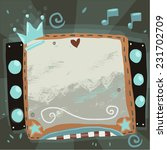abstract party music sign board ...