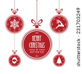 christmas ball red isolated... | Shutterstock .eps vector #231703249