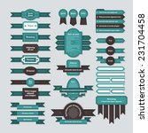 set of ribbons  banners and... | Shutterstock .eps vector #231704458
