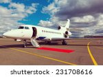 white reactive private jet  the ... | Shutterstock . vector #231708616