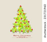 xmas tree made be mistletoe on... | Shutterstock .eps vector #231721960
