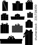 Gift Silhouettes   Presents  ...