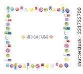 medical frame  watercolor... | Shutterstock .eps vector #231732700