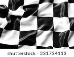 checkered black and white flag... | Shutterstock . vector #231734113