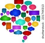 speech bubbles of different... | Shutterstock .eps vector #231744313