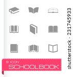 vector schoolbook icons set on... | Shutterstock .eps vector #231745933