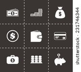 vector money icon set on black... | Shutterstock .eps vector #231746344