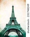Eiffel Tower   Retro Postcard...