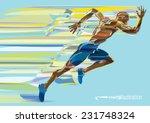artistic stylized running man... | Shutterstock .eps vector #231748324