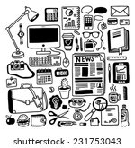 hand drawn doodles office... | Shutterstock .eps vector #231753043