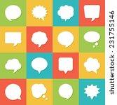 set of blank empty white speech ... | Shutterstock .eps vector #231755146