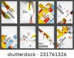 set of flyer templates ...   Shutterstock .eps vector #231761326