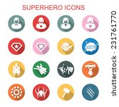 superhero long shadow icons ... | Shutterstock .eps vector #231761770