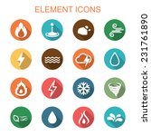 element long shadow icons  flat ...