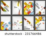 set of flyer templates ...   Shutterstock . vector #231766486
