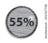 fifty five percent  isolated 55  | Shutterstock .eps vector #231767758