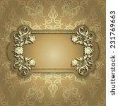 elegant vintage invitation.... | Shutterstock .eps vector #231769663