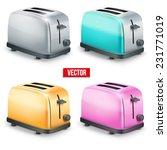 set of bright retro colorful... | Shutterstock .eps vector #231771019