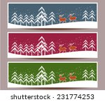 merry christmas banners set... | Shutterstock . vector #231774253