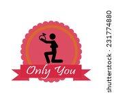 only you love illustration over ... | Shutterstock .eps vector #231774880