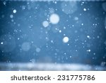 falling snow on the blue... | Shutterstock . vector #231775786