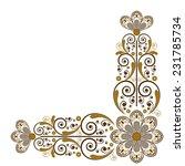 vector vintage floral ... | Shutterstock .eps vector #231785734